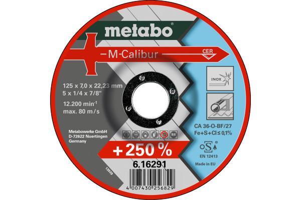 Schruppscheibe M-Calibur125x7,0x22,2,Stahl/INOX CA36O