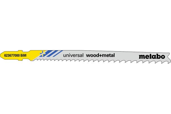 5 Stichsägeblätter T345XF/BIM Holz mit Nägel <65mm