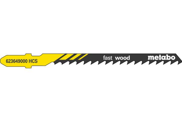 5 Stichsägeblätter T244D/HCS Holz/grob/Kurve 4-50
