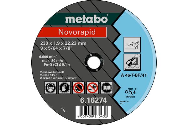 Trennscheibe Novorapid230x1,9x22,23 Inox, A46T,1