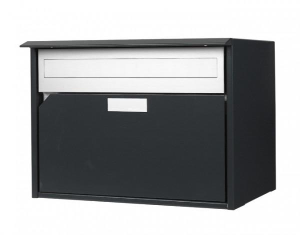 Briefkasten Alu 400 anthrazit Flache-Front,415x310x290