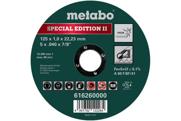 SpecialEditionII125x1,0x22,23mmInox