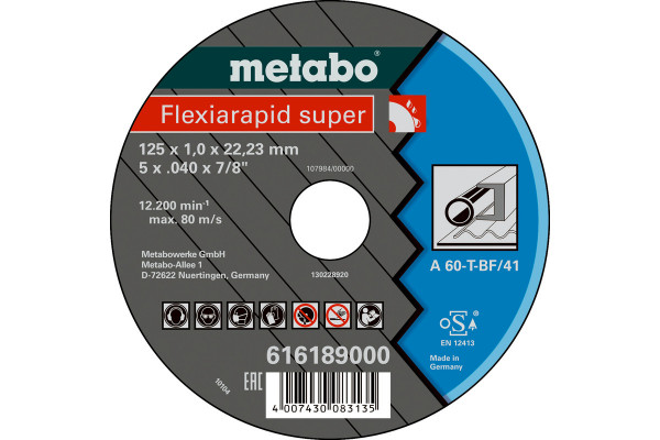 Trennscheibe Flexiam.sup. 115x1,0x22,2 Stahl A60T,1