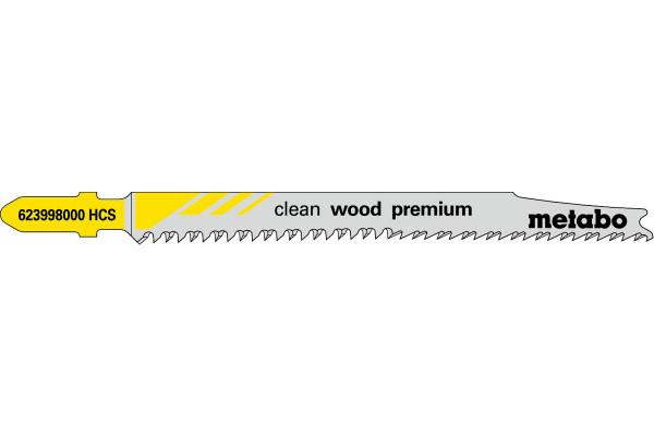 5 Stichsägeblätter T308B/HCS Holz/superfein 5-50mm