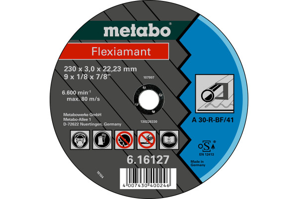 Trennscheibe Flexiam. 180x3,0x22,2, Stahl A30R,1