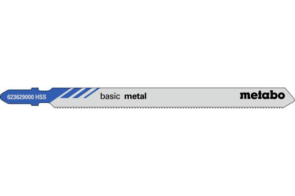 5 Stichsägeblätter T318A/HSS Metall/Profile 1-65mm