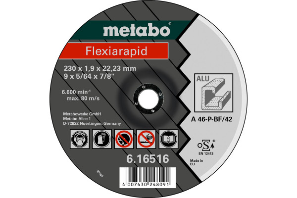 Trennscheibe Flexiarapid115x1,0x22,23Alu,1