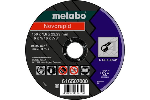 Trennscheibe Novorapid150x1,6x22,2,Stahl, A60R,1