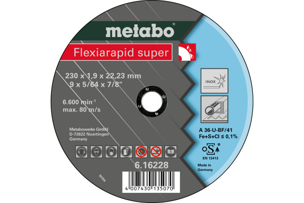 Trennscheibe Flexiar.sup. 230x1,9x22,2 Inox A36U,1