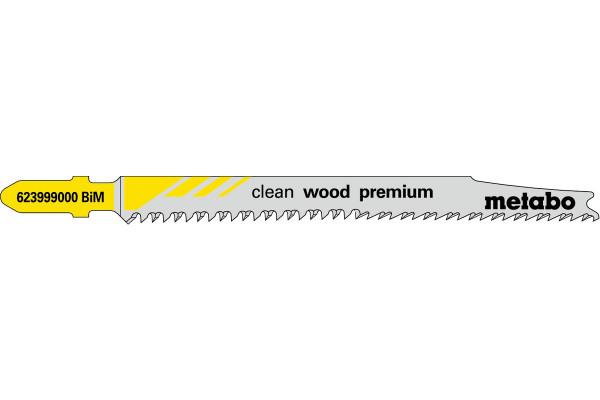 5 Stichsägeblätter T308BF/BIM Holz/superfein 5-50mm