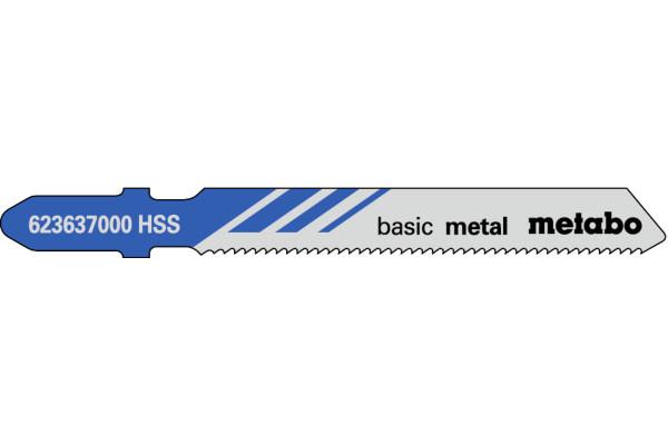 5 Stichsägeblätter T118A/HSS Metall/Blech 1-3mm