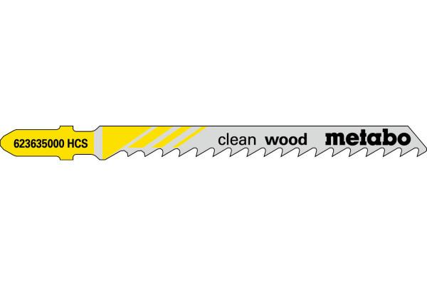 5 Stichsägeblätter T101D/HCS Holz/fein 10-45mm