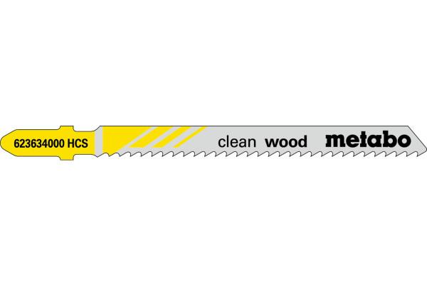 5 Stichsägeblätter T101B/HCS Holz/fein 3-30mm