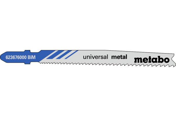 5 Stichsägeblätter T123XF/BIM Metall/DickDünn <30