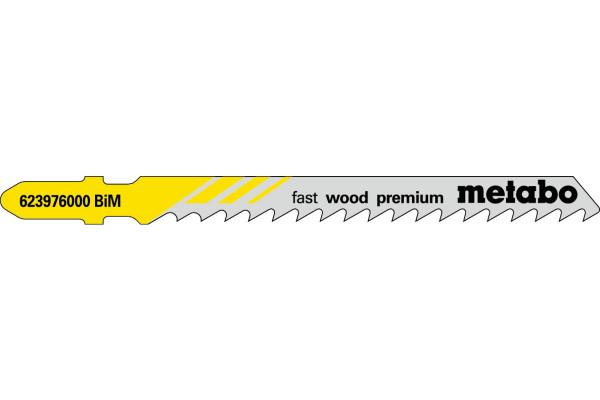 5 Stichsägeblätter T144DF/BIM Holz/grob 5-50mm