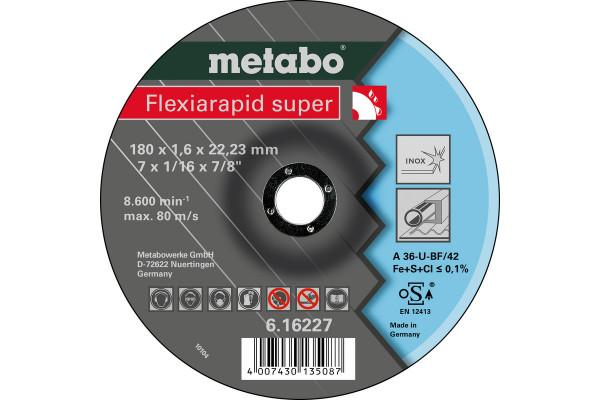 Trennscheibe Flexiar.sup. 180x1,6x22,2 Inox A46U,2
