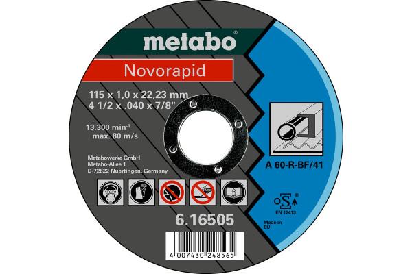 Trennscheibe Novorapid 115x1,0x22,2, Stahl, A60R,1