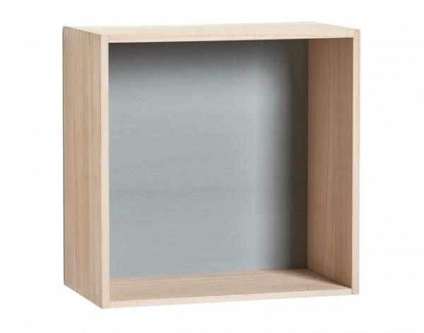 Wand-Regal-Set Cubes 3-teilig Holz 27x15/30x16/33x18cm