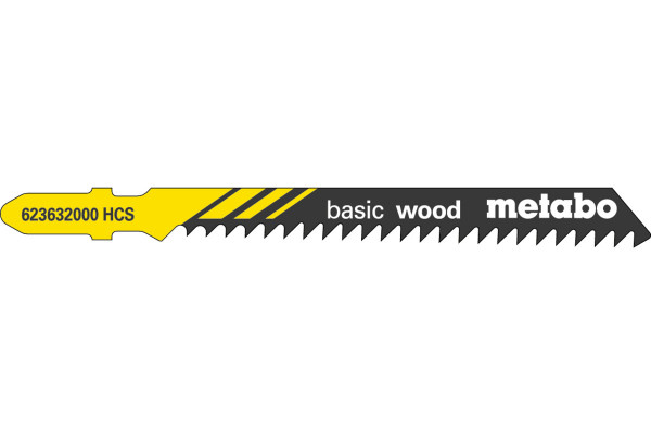 5 Stichsägeblätter T111C/HCS Holz/grob 4-50mm
