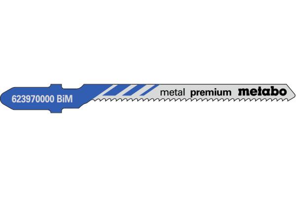 5 Stichsägeblätter T118EOF/BIM Metall/Kurve1.5-4mm
