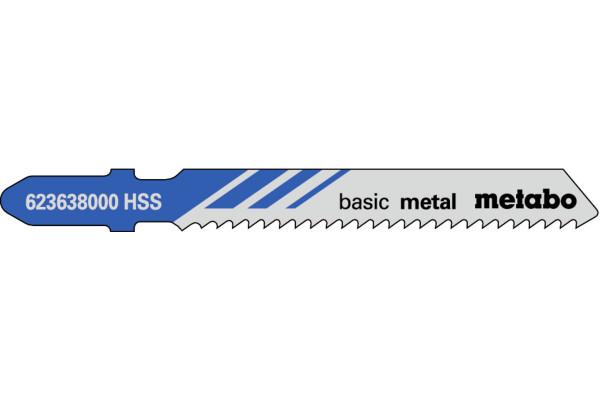 5 Stichsägeblätter T118B/HSS Metall/Blech 2.5-6mm