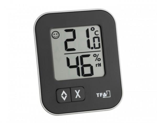 Thermo-Hygrometer digital Moxx schwarz TFA 30.5026.01