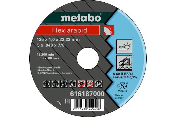Trennscheibe Flexiarapid 125x1,0x22,2 Inox A60R,1