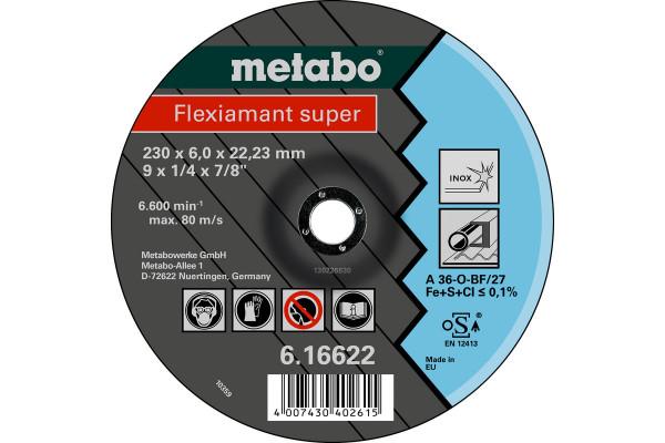 Schruppscheibe Flexiam.sup. 180x6,0x22,2, Inox A36O