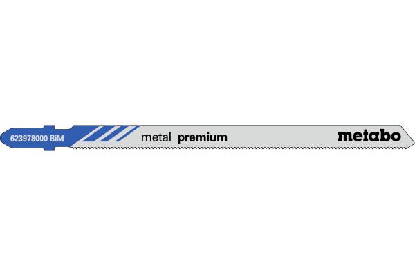 5 Stichsägeblätter T318AF/BIM Metall/Profile 1-65mm