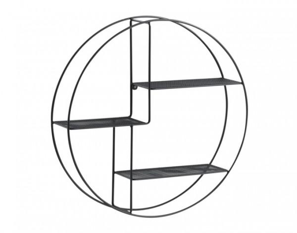 Wandregal Metall schwarz ø55x12cm