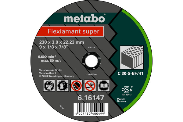 Trennscheibe Flexiam.sup. 180x3,0x22,2 Stein C30S,1