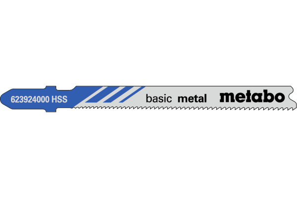 5 Stichsägeblätter T118A/HSS/Prog Metall/Blech-3mm