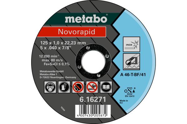 Trennscheibe Novorapid125x1,0x22,23Inox, A46T,1